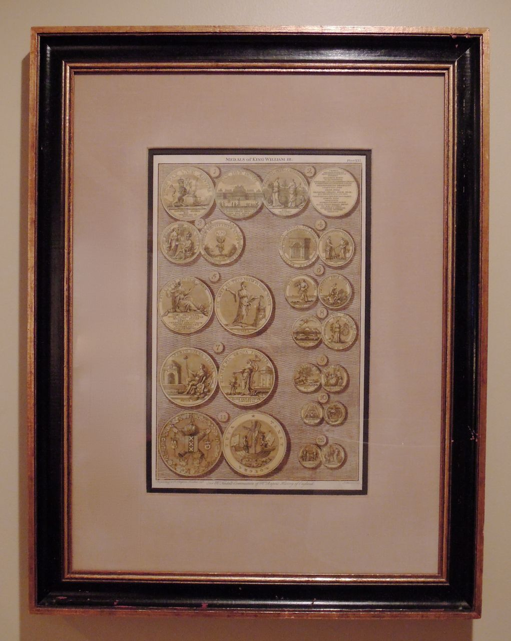 English Engraving, English Medals of King William III, Londini Ca. 1746