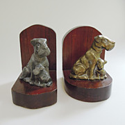 SALE Vintage Dog Bookends