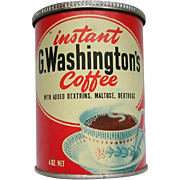 Vintage G Washingtons Instant Coffee Mix Tin Can