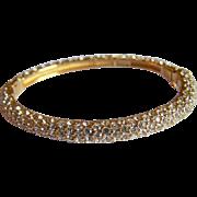 Pretty Signed CINER Crystal rhinestone embellished hinged bangle bracelet