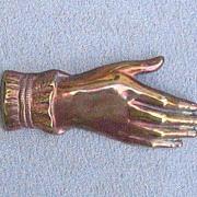 Bronze Hand Pin, c. 1920