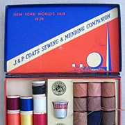 SALE 1939 New York World's Fair Sewing & Mending Companion, by J. & P. Coats