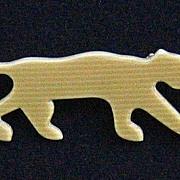 Golden-Tan Panther Pin, by Lea Stein, Paris