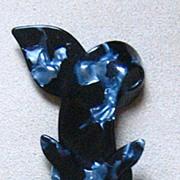 SALE Grey & Black Fox pin by Lea Stein, Paris