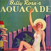 SALE Original First Ed. Souvenir Program for Billy Rose's Spectacular Aquacade, 1939 New Yor