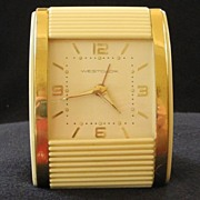 Westclox Roll Top Travel Alarm Clock, c. 1950
