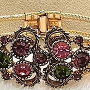 Austrian Lites Rhinestone Clamper Bracelet, by Sarah Coventry