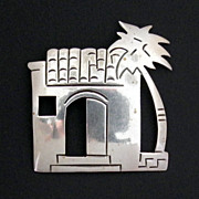 Taxco Mexico Pueblo and Palm Tree Pin