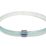 Light Blue with hints of Aqua Slim Bangle Bracelet, by Lea Stein, Paris
