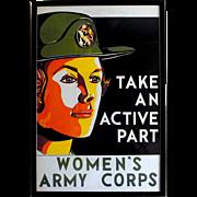 Original Women's Army Corps, Military Recruitment Poster, circa 1950