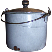 Late 19th C Tiny Graniteware Berry Bucket or Pail