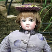 "14"" Jumeau French Fashion Doll - Outstanding Antique Silk Dress - Wig/Shoes/Layaway!"