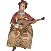 "RARE French Musical Automaton ""Lady with Mandolin"" by Theroude"