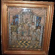 REDUCED RARE - Layaway - Framed Cloister's Work - 7 Wax Dolls - Circa 1800