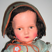 Unusual antique Lenci Type Doll 24""