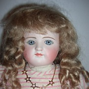 """17"""" RARE Closed Mouth Antique Child Doll by Ernst Grossman"""