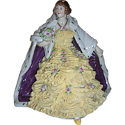 Stunning Antique Volkstedt Dresden Lace Figurine - Layaway