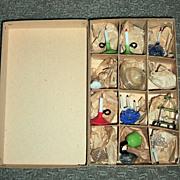 Outstanding Antique Miniature Hand Blow Glassware in Original Box