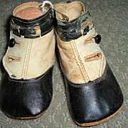 """4 1/4"""" Antique Leather Doll Boots Shoes"""