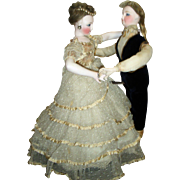 RARE ALL ORIGINAL Automaton - Waltzing Couple by Vichy