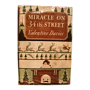 SOLD Miracle on 34th Street written by Valentine Davis, Published in 1947 by Harcourt, Brace a