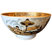 "SALE Large 8 1/4"" W Holland Rice Bowl with Asian Theme ~ PaJong Pattern ~ Petrus Regouta"