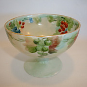 SALE Awesome French Porcelain Punch or Condiment Cups ~ Hand Painted with Grapes ~ Tressemann