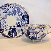 SOLD Beautiful English China Cup & Saucer ~ Blue and White ~ Blue Mikado (designed by Thomas A