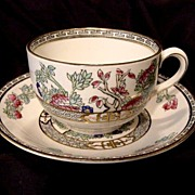 INDIAN TREE Pattern – Cup & Saucer – JG Meakin 1912+