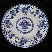 Soup Bowl -  Blue & White Globe Pottery 1917