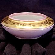 Exquisite Bavarian Porcelain dish ~ Gold Embossed ~ Artist Signed ~ (O E & G) Oscar & Edgar Gutherz 1913