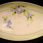 "Double handled 13'' Bavaria Hand Painted Celery Dish Artist ""Rosch"""