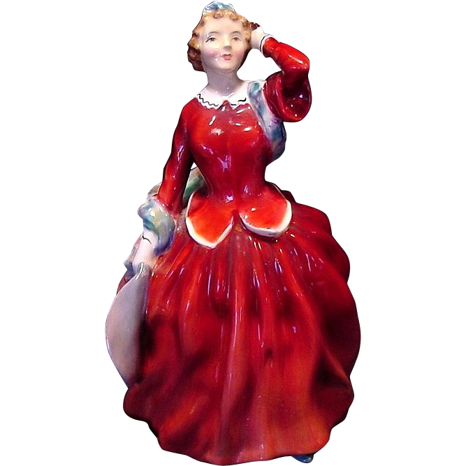 "Royal Doulton Figurine ""BLITHE MORNING""  HN2065 ~ Initialed by Artist~ Designed By Leslie Harradine 1948"