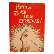 How The Grinch Stole Christmas!  By Dr. Seuss 1957 Random House First Edition