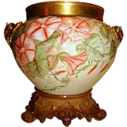 SALE Magnificent Limoges Jardiniere with Elephant Handles and Base ~ Large 10 inches tall on .