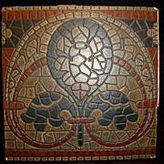 SALE Great German Encaustic Mosaic Tile ~ Villeroy & Boch Mettlach Germany 1869 +
