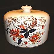 SALE Gorgeous English Polychrome Transferware ~ Cheese Cover / Dome ~ Gaudy Welsh Colors & Dur