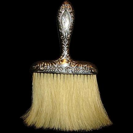 Sterling Silver Whisk or Hat Brush Vanity Item