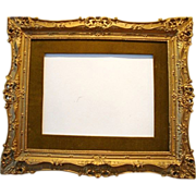 "Gorgeous Antique Gilded Wood Picture Frame 23"" W  x 27"" L x 1 1/4"" D ~ Early 1900's"