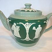 SALE Beautiful Jasperware Teapot ~ Three Colors ~ Dudson Brothers LTD Hanley England 1898