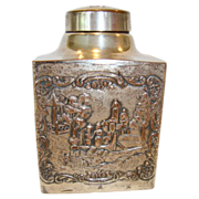 SALE Nice Repousse Tea Caddy ~ Silver over Copper ~  WEBSTER MFG - New York 1860-1928