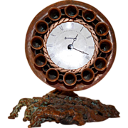 SALE Awesome Copper Desk Clock / Wall Sconce ~ Original Handmade