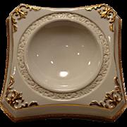 Unique Porcelain Horderve/Dip Dish ~ White with Gold Accents