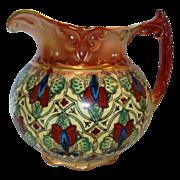 SALE Colorful Faience / Earthenware Haynes Balt Ware Cider / Lemonade Pitcher ~ Art Nouveau ..