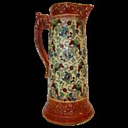 SALE Colorful Faience / Earthenware Tankard / Pitcher~ Haynes Balt Ware ~ Art Nouveau Pattern