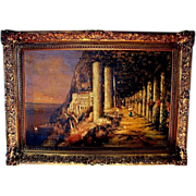 SALE PIC30BRIG: Nicholas Briganti Oil on Canvas ~ Circa 1893-1897, Italy's Amalfi Coast - Capr