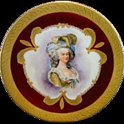 SALE Exquisite Portrait Plate of Marie Antoinette ~ Hand Painted Limoges Porcelain ~  Gold ...