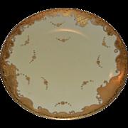 SALE Gorgeous Limoges Porcelain Cabinet Plate ~ Raised Gold Paste ~ Tressemann & Vogt Limoges