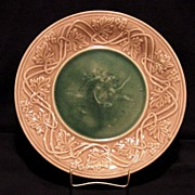 SALE Very Nice Majolica Cabinet Plate Classical Series Decorated with Putti (Cherub) & Lion ~