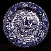"SALE Gorgeous English ~ Blue & White Scenic Earthenware Plate~ ""Landscape"" Pattern ~"
